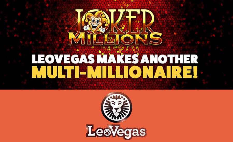 Joker Millions winner at Leo Vegas casino