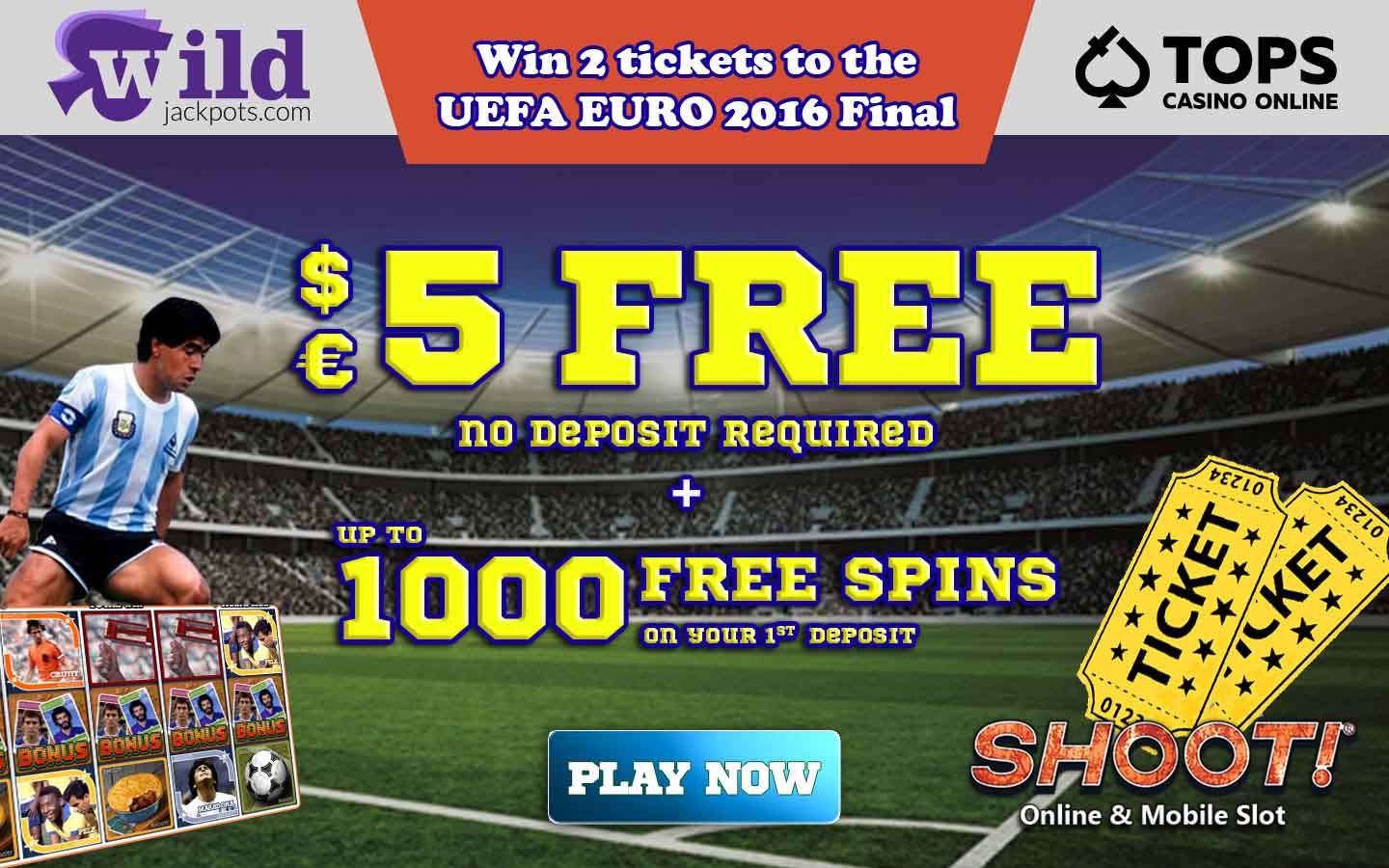 Exclusive Wild Jackpots casino bonus