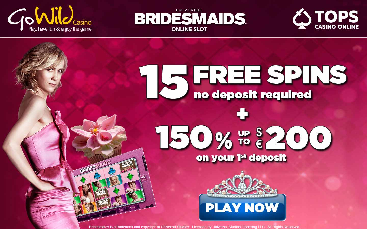 GoWild casino exclusive 15 free spins