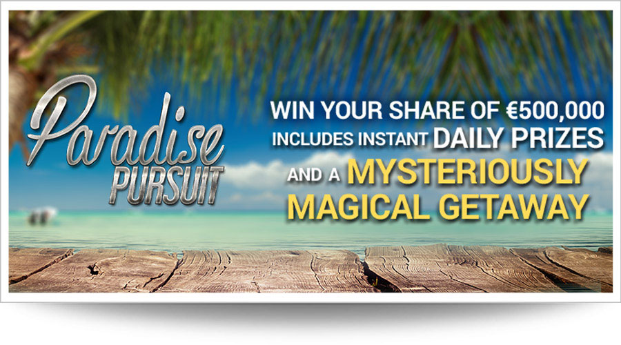 Paradise Pursuit promo at Red Flush casino